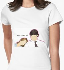 Jim and Pam - Custom L.C. Women's Fitted T-Shirt