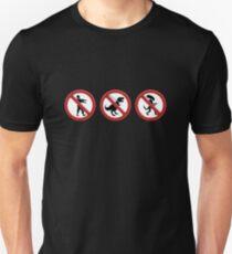 Camiseta unisex Interdit aux monstres
