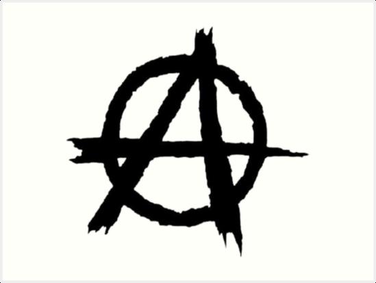 Anarchy Symbol Art Prints By Ravanna Lotus Redbubble