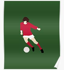 Minimalist George Best design Poster