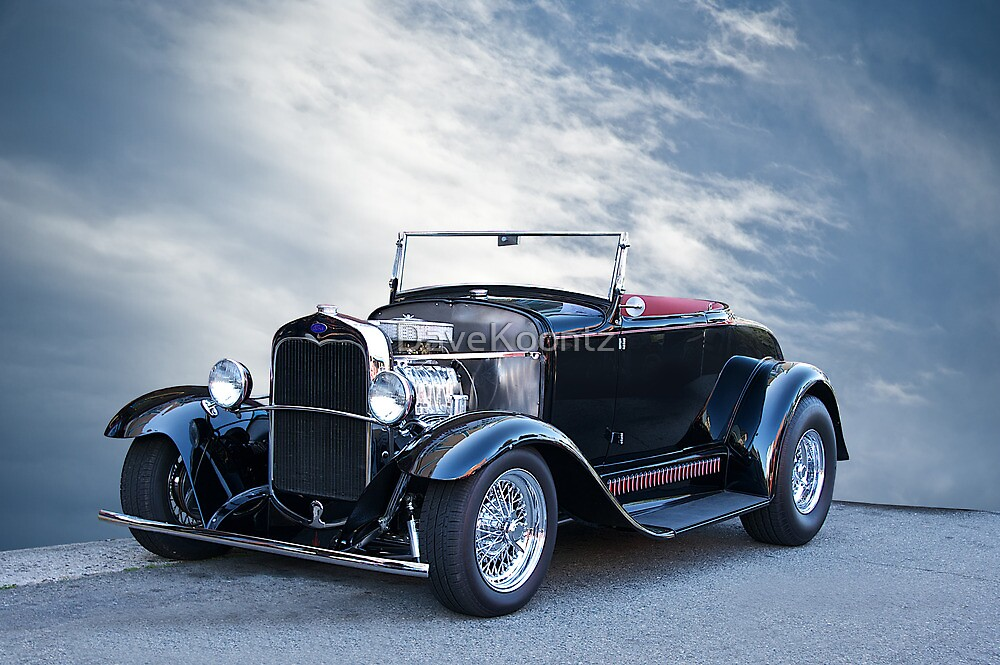 1930 Ford Model A Ford Roadster by DaveKoontz