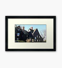 The House of Seven Gables Framed Print