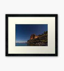 Cave Rock at Night Framed Print