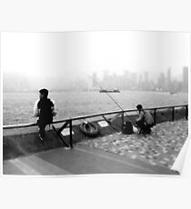 harbour fishing Poster