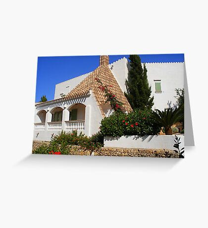 A House In Cala Galdana Greeting Card