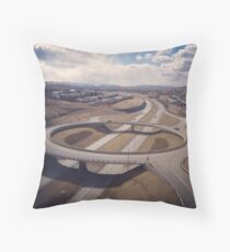 traffic bridge Throw Pillow