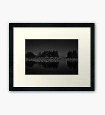 Tree Line at Night Framed Print