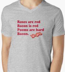 Roses Are Red, Bacon. Men's V-Neck T-Shirt