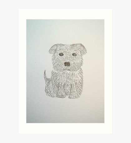Tiny Terrier Art Print