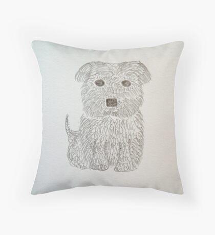 Tiny Terrier Throw Pillow
