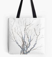 Little DNA Tree, Hand drawn ink on paper ACEO Tote Bag