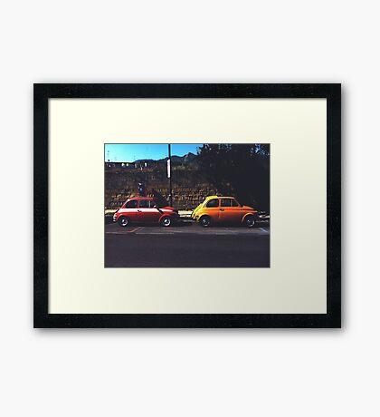 Fiat & Abarth 500s Framed Print