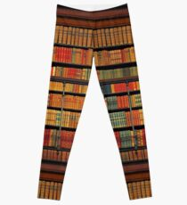 Vintage Library at Chateau Chantilly, Paris FRANCE Leggings
