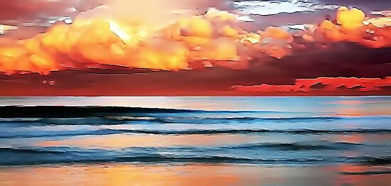 Stormy Evening Arriving by David Alexander Elder