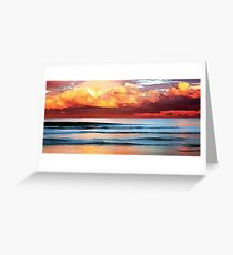 Stormy Evening Arriving Greeting Card