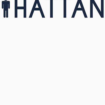 Man hattan Tee - Yankee Blue Lettering by manhattantee
