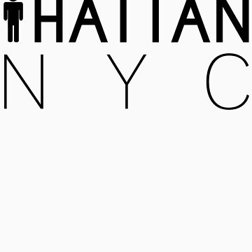 Man hattan Tee - NYC - Black Lettering by manhattantee