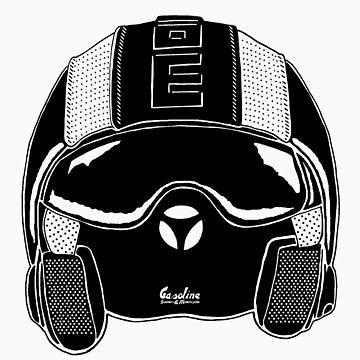 Momo Helmet Illustration by GASOLINESK00T