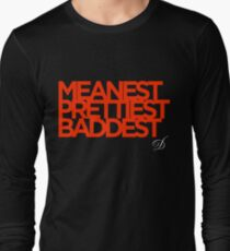 Meanest, Prettiest, Baddest (Shonuff The Master) Long Sleeve T-Shirt