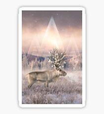 Stillness of Winter Sticker