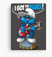 I got the blues Canvas Print