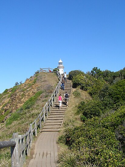 The climb up to the Lighthouse! Byron Bay, N.S.W. coast. Australia. by Rita Blom