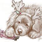 Santa's Fluffy Helper by Patricia Reeder Eubank