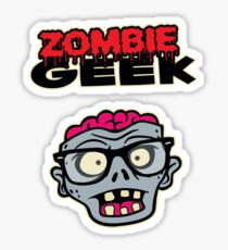 Zombie Geek Sticker