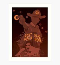 The Walking Dead Satirical Fan Art - Rick Art Print