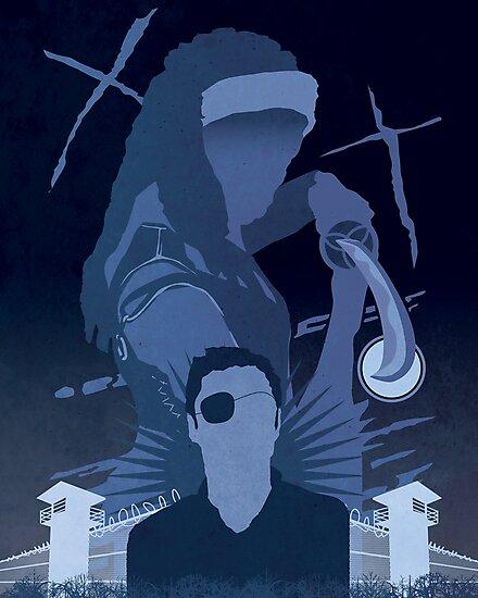 The Walking Dead Satirical Fan Art - Michonne 8x10 by Carl Huber