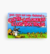 Cute Childrens Illustrations Featured Banner Canvas Print