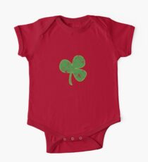 Vintage Clover St Patricks Day One Piece - Short Sleeve