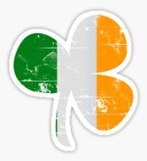 Vintage Irish Flag Clover St Patricks Day Sticker