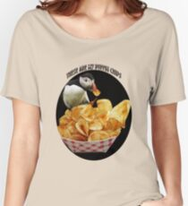 ☝ ☞ THESE ARE MY PUFFIN CHIPS TEE SHIRT☝ ☞ Women's Relaxed Fit T-Shirt