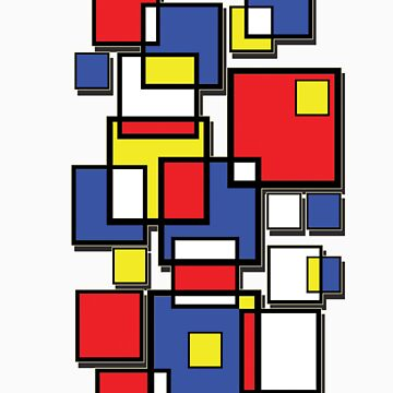 An abstract of squares - shadow by Nimi