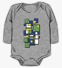 Abstract squares! One Piece - Long Sleeve