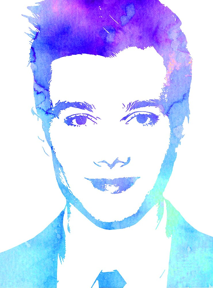 chris in blue by Catherine Ostholthoff