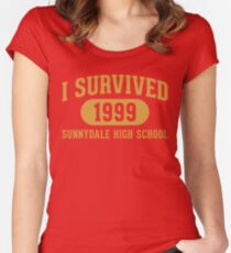 I Survived Sunnydale High Women's Fitted Scoop T-Shirt