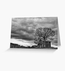 Lonely house B&W Greeting Card