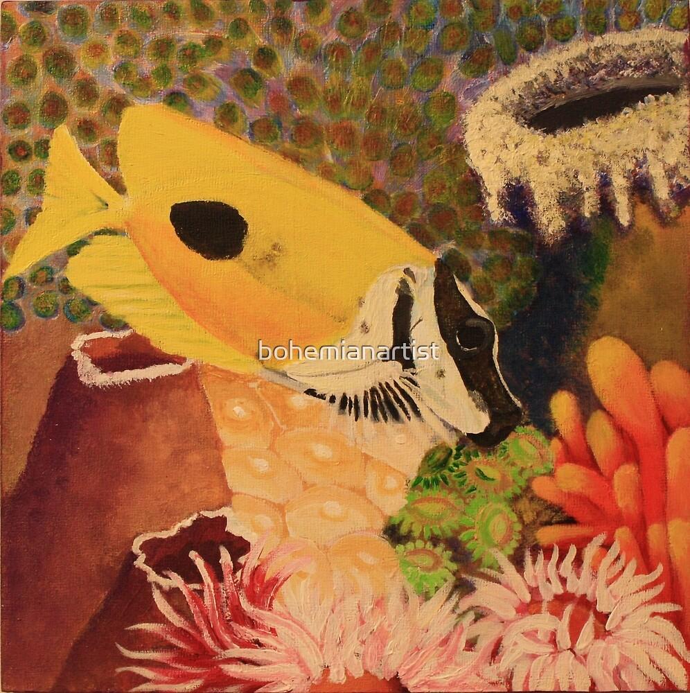 Foxface Rabbit Fish by bohemianartist
