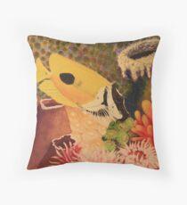 Foxface Rabbit Fish Throw Pillow