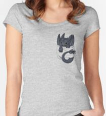 Dragon in your pocket Women's Fitted Scoop T-Shirt