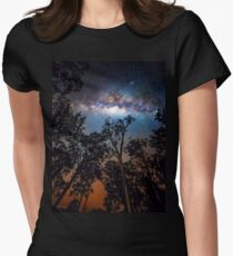 Fire in the Sky Women's Fitted T-Shirt
