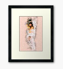 Cupid (Greek Eros) the god of desire, affection and erotic love In Roman mythology, Framed Print