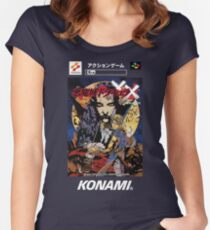 Castlevania Akumajo Dracula X Nintendo Super Famicom Japanese Box Art Women's Fitted Scoop T-Shirt