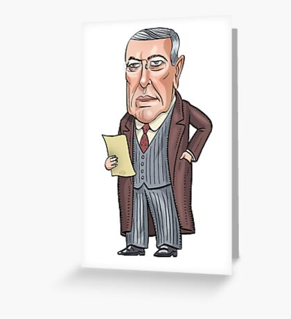 President Woodrow Wilson Greeting Card