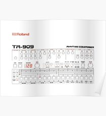 Rolland TR-909 Poster