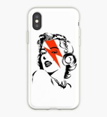 Red flash Marilyn stardust iPhone Case