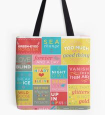 Phrases coined by Shakespeare Tote Bag