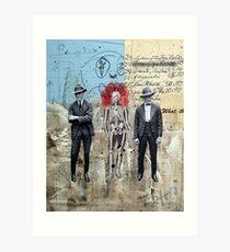 HOMBRES QUE CAMINAN DE LA MANO CON LA MUERTE (men who walk hand to hand with death) Art Print